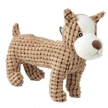 PoochRageous Boston Terrier Dog Toy - Tan