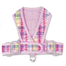 Precision Fit Seersucker Dog Harness - Pink