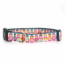 Pretty Nesting Dolls Dog Collar