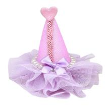 Pretty Party Hat Dog Bow - Lavender