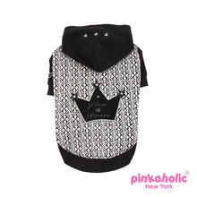 Prince and Princess Dog Hoodie by Pinkaholic - Black