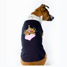 Princess Crown Heart Dog Tank Top - Black