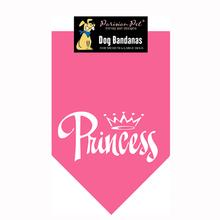 Princess Dog Bandana -  Pink