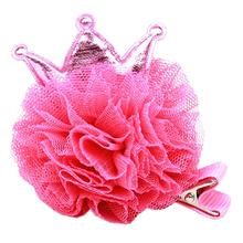 Princess Puff Dog Bow - Bright Pink