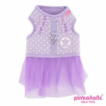 Princesse Flirt Dog Harness Dress by Pinkaholic - Violet