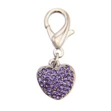 Puffy Heart D-Ring Pet Collar Charm by FouFou Dog - Lilac