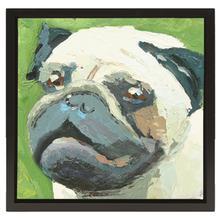 Pug Oil Painting