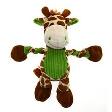 Pulleez Groovy Giraffe Dog Toy