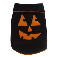 Pumpkin Face Dog Pullover - Black