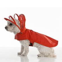 Push Pushi Rainbow Line Dog Raincoat - Red