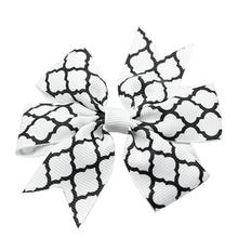 Quatrefoil Dog Barrette - White