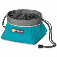 Quencher Cinch Top Dog Bowl by RuffWear - Pacific Blue