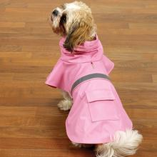 Rain Jacket with Reflective Strip - Pink