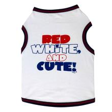 Red, White, & Cute Dog Tank Top