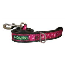 Retro Flowers Pup Top Dog Leash by Cycle Dog - Hot Pink