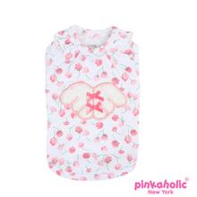 Rosa Dog Shirt by Pinkaholic - White