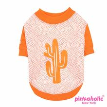 Saguaro Dog Shirt by Pinkaholic - Orange