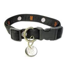 San Francisco Giants Woven Ribbon Dog Collar - Premium