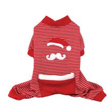 Santa Stache Holiday Dog Pajamas - Red