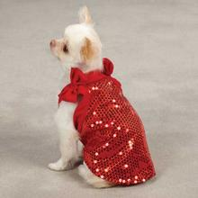 Sassy Sequin Dog Tank Top - Red