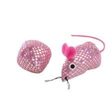 Savvy Tabby Sparkle Leopard Mouse and Ball - Pink