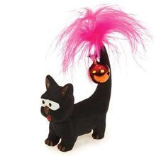 Savvy Tabby Tickle Kitties Cat Toy - Black