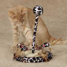 Savvy Tabby Wild Time Chirping Teaser Cat Toy - Black