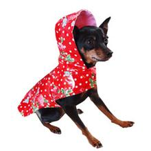 Scarlet Strawberries Dog Raincoat