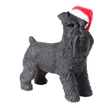 Schnauzer Standing Christmas Ornament - Black
