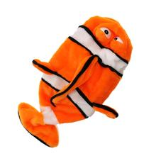Sea Life Plush Bottle Dog Toy - Clownfish