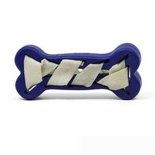 Seamsters Rubber/Rawhide Weave Bone Toy