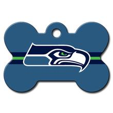 Seattle Seahawks Engravable Pet I.D. Tag - Bone