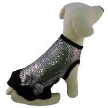 Sequin Ruffle Dog Dress