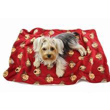 Silly Monkey Ultra-Plush Dog Blanket by Klippo - Burgundy
