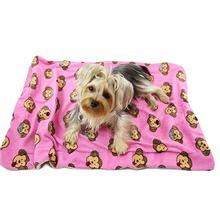 Silly Monkey Ultra-Plush Dog Blanket by Klippo - Pink
