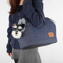 Skyline Dog Carrier by Pinkaholic - Navy Blue