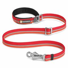 Slackline Adjustable Dog Leash by RufffWear - Kokanee Red