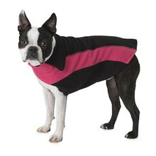 Slater's Fleece Dog Vest - Black and Hot Pink