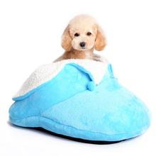 Slipper Dog Bed by Dogo - Blue