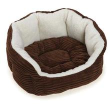 Slumber Pet Cozy Cord Pet Bed - Chocolate