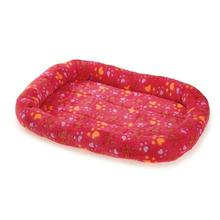 Slumber Pet Plush Paws Crate Bed - Pink