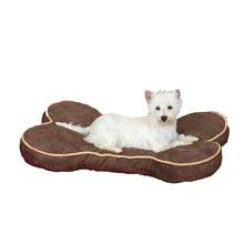 Slumber Pet Suede Bone Beds for Pet - Chocolate