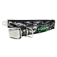 Snow Camo Metal Latch Dog Collar by Cycle Dog