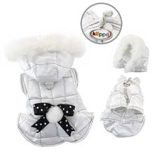 Snow Princess Dog Parka with Detachable Hood by Klippo