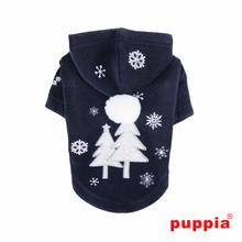 Snowday Dog Hoodie by Puppia - Navy