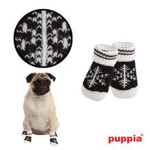 Snowflake Dog Socks by Puppia - Black