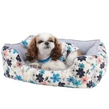 Soft Spice House Dog Bed by Puppia - Blue