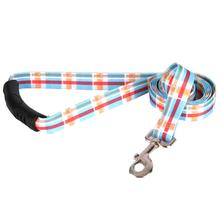 Southern Dawg Madras EZ-Grip Dog Leash by Yellow Dog - Blue