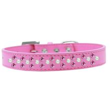 Sprinkles Pearl and Bright Pink Crystals Dog Collar - Bright Pink