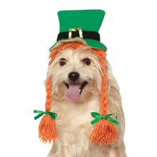 St Patty's Day Dog Hat with Braids